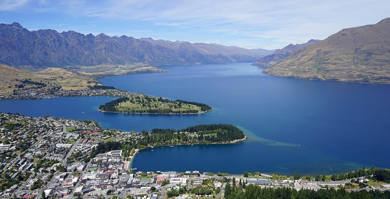 View of Queenstown, New Zealand