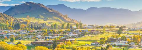 Christchurch settlement nested in hills
