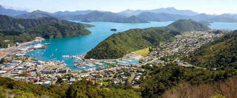 Landscape view of Picton harbour